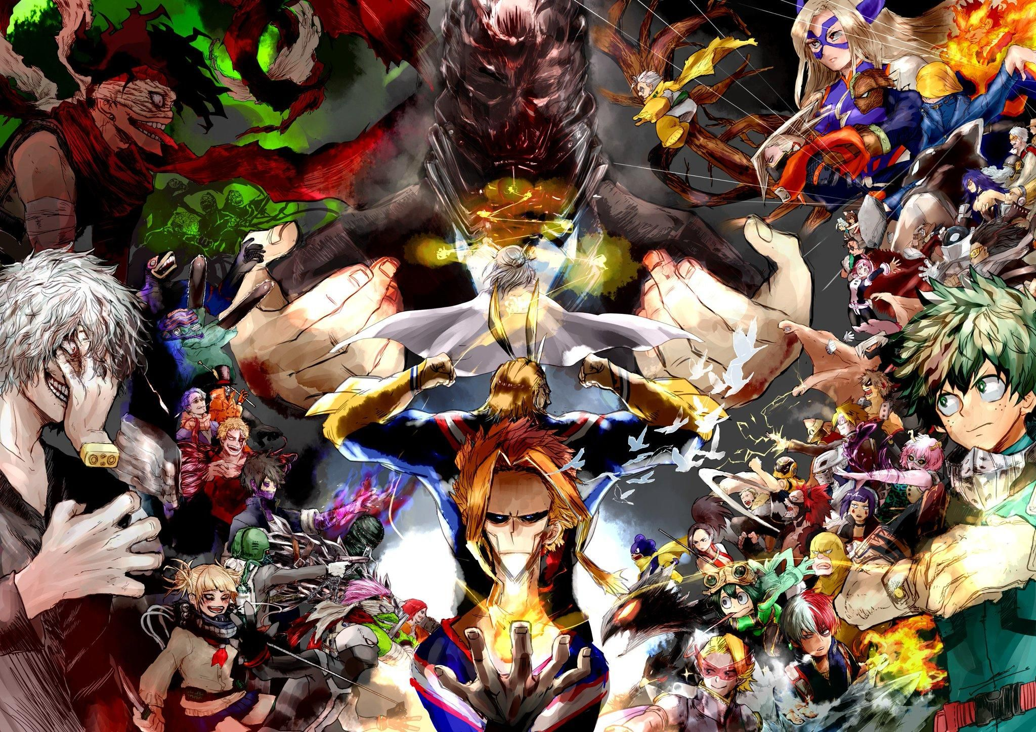 One For All And All For One My Hero Academia Hero Wallpaper Hero Anime Wallpaper