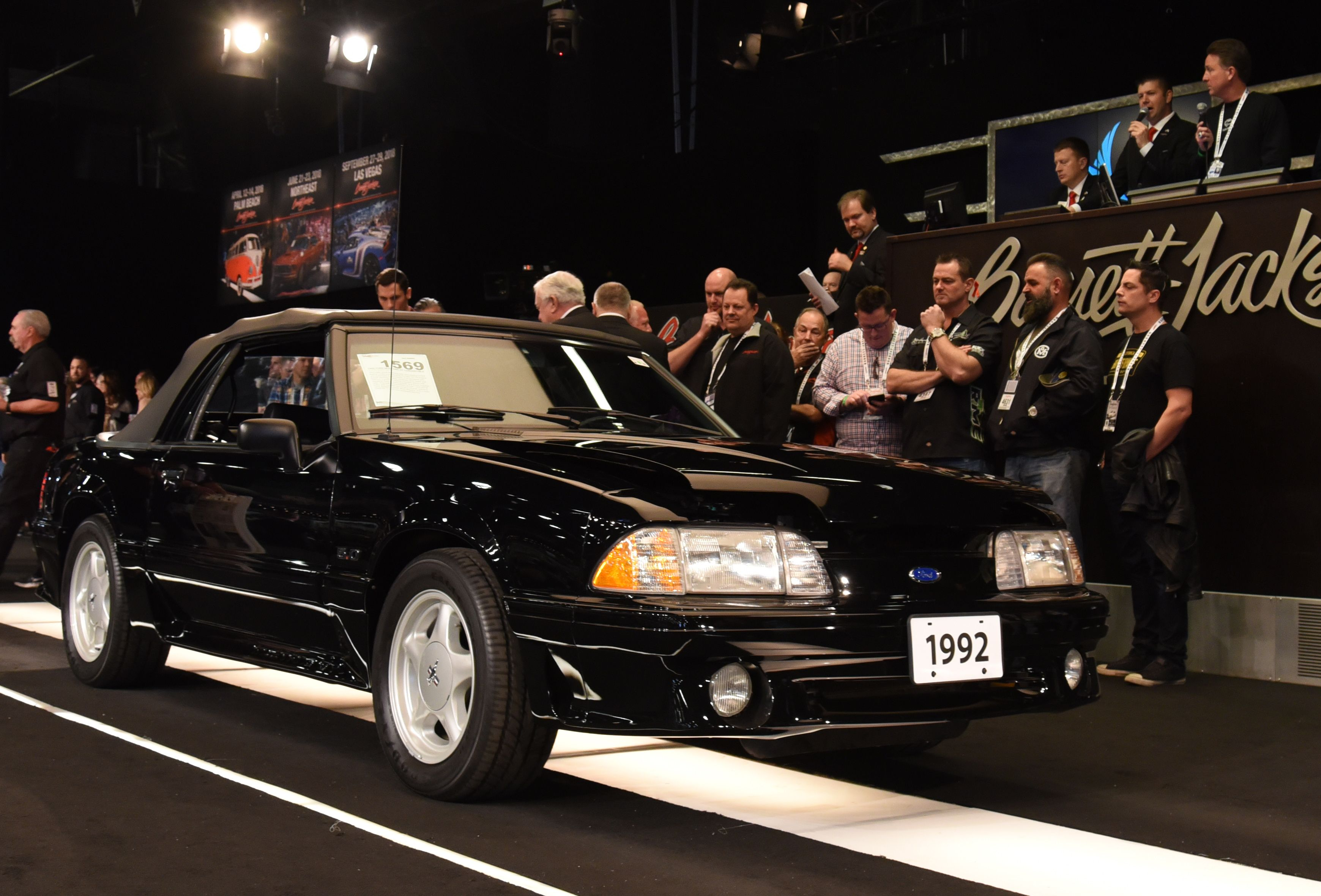1992 Ford Mustang Gt Convertible This Triple Black Mustang With Articulating Lumbar Leather Seats Is Powered Ford Mustang Boss Best Muscle Cars Ford Mustang