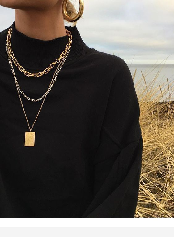 11++ Black and gold necklace fashion jewelry info