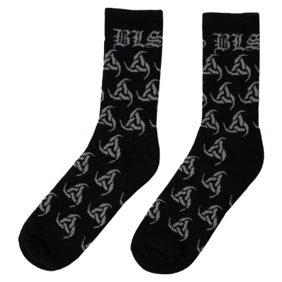 Black Grey Odin Socks With Images Socks Black Black Label Society