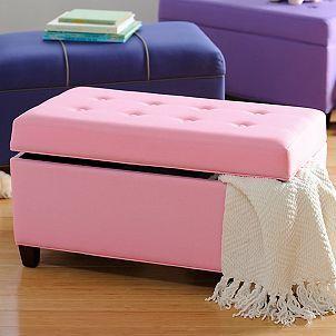 Girls Pink Storage Bench & Girls Pink Storage Bench | Mia | Pinterest | Storage benches Bench ...