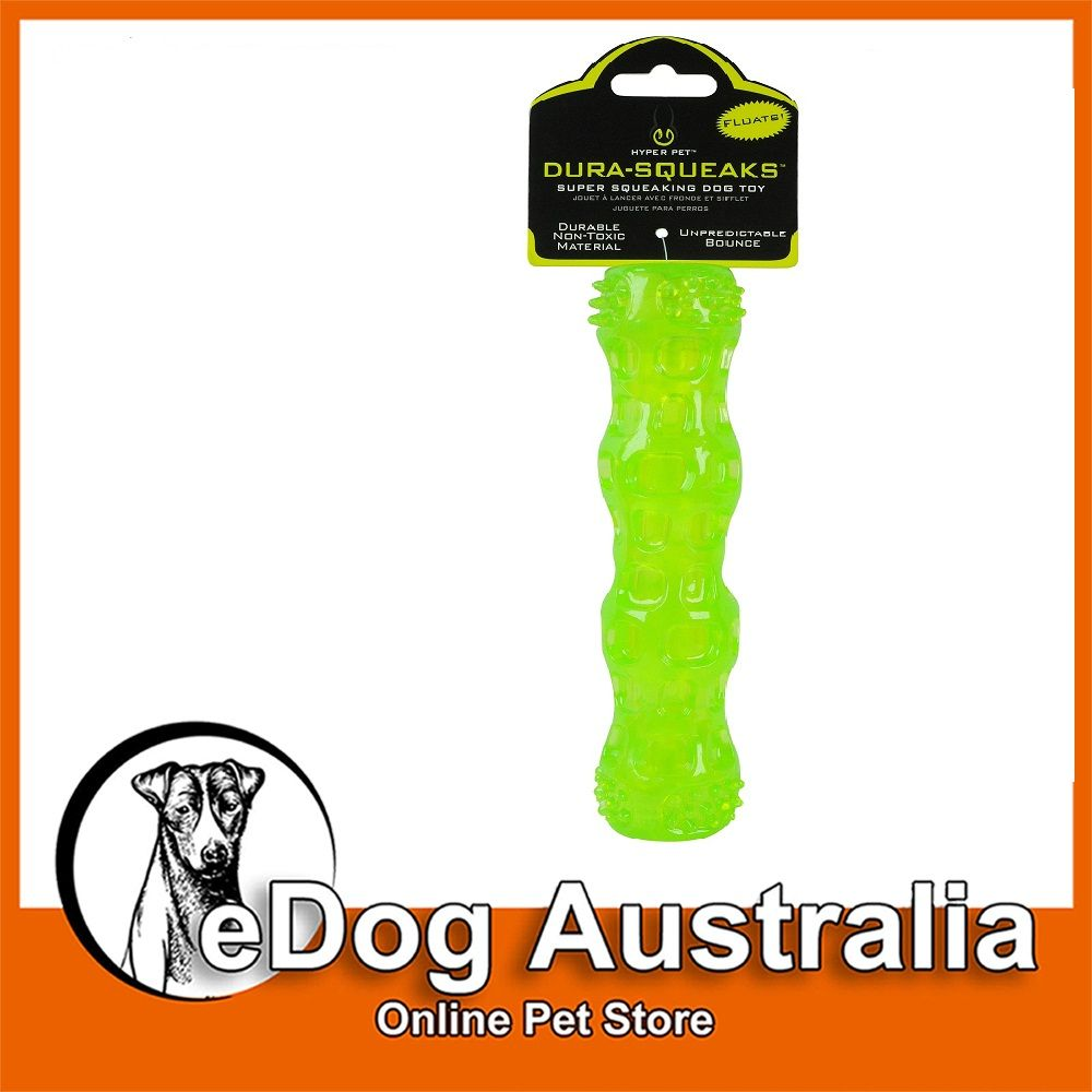 Hyper Pet DuraSqueaks Dog Chew Toy is the floatable