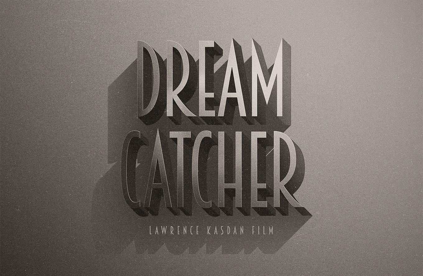 Download Free Psd Cinematic Text Effect Mockup Creative Pouch Retro Text Text Effects Photoshop Text