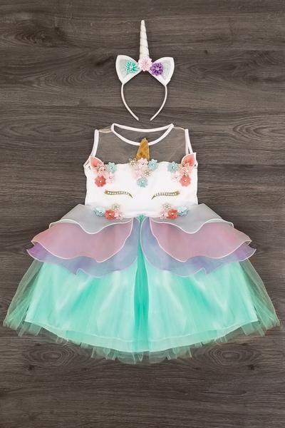 8923dca19 PREORDER- Lavender Deluxe Unicorn Tutu Dress   bebitos 2   Ropa para ...