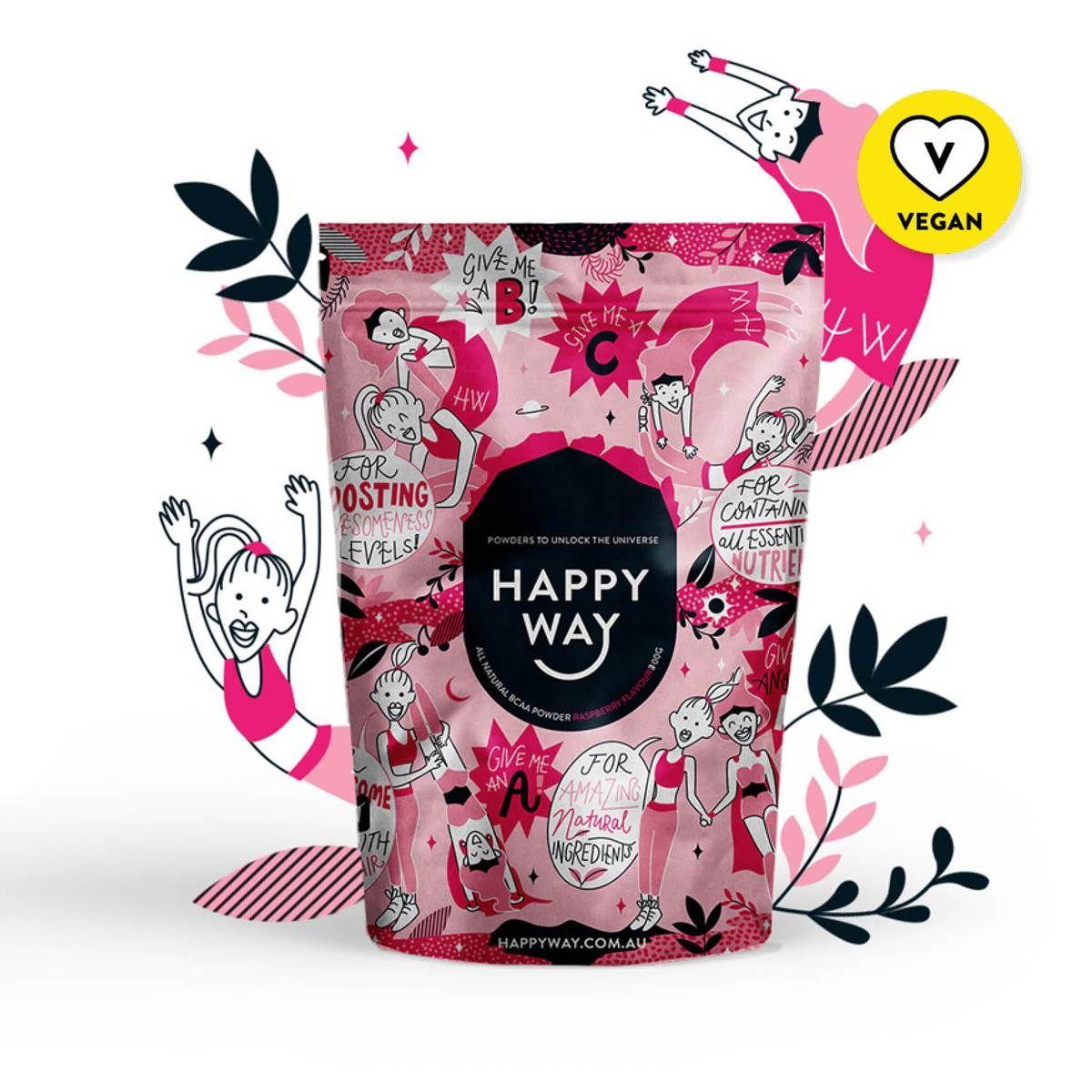 BCAA Powder Raspberry Flavour (300g) in 2020 Happy way