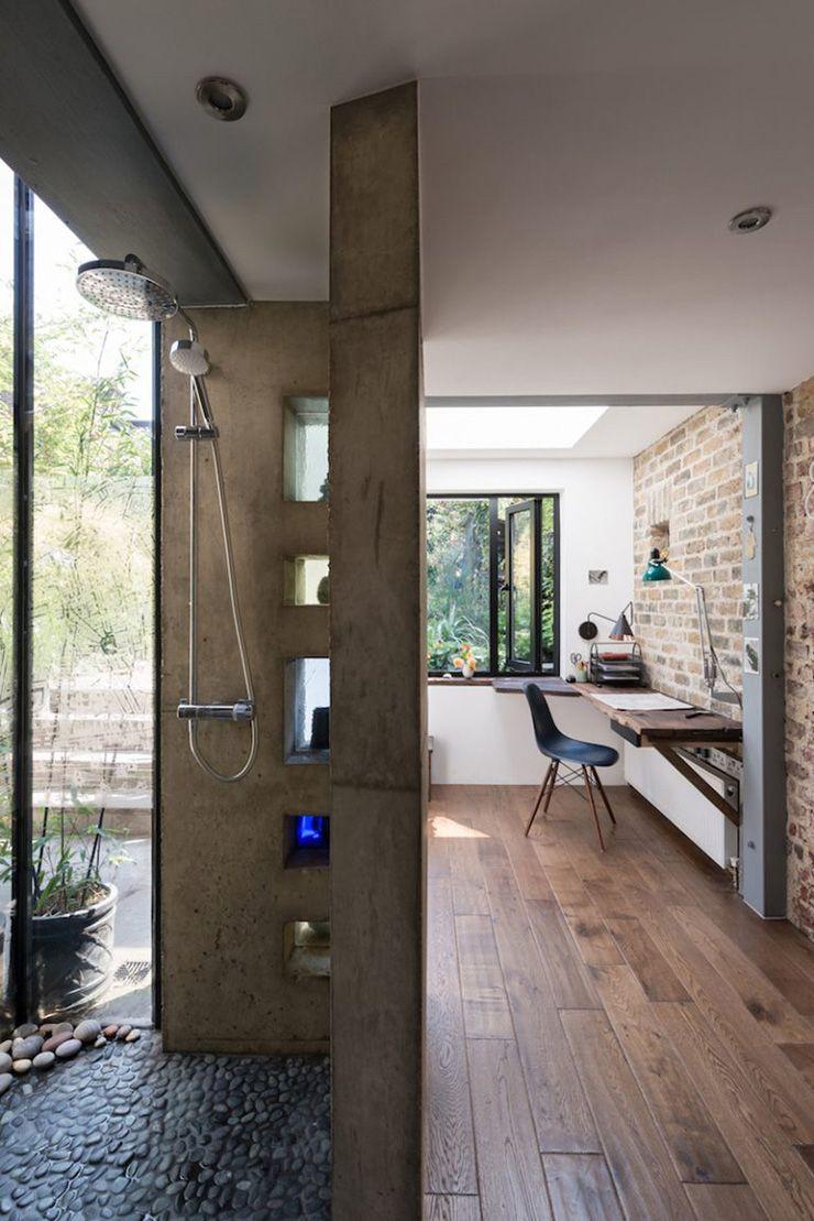 bijzondere werkstudio mà t betonnen douche huis en interieur