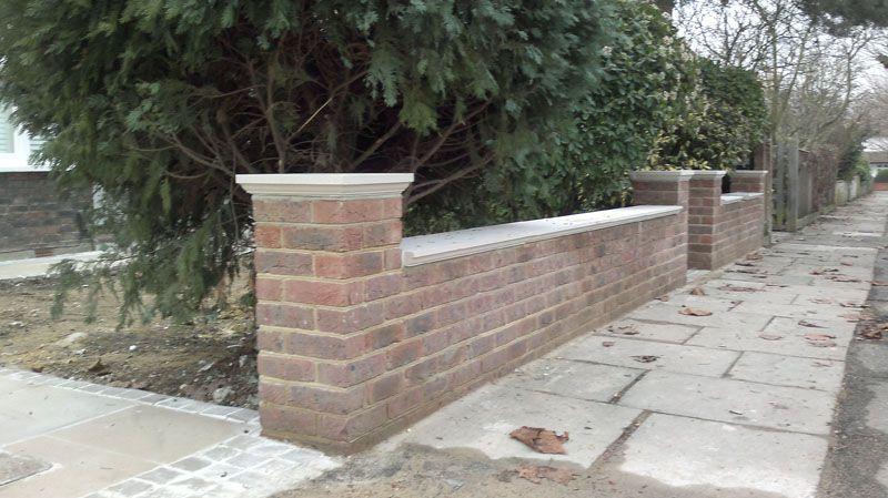 Front Garden Wall Brickwork London Brickwork London Garden Wall Designs Brick Wall Gardens Garden Wall
