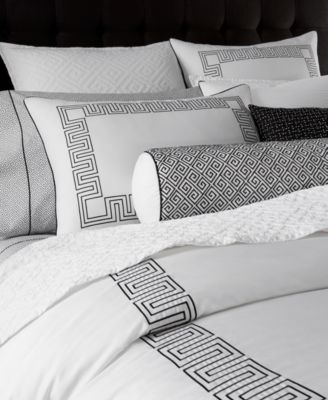 Hotel Collection Greek Key Full Queen Comforter Only At Macy S Black Duvet Cover Master Bedroom Hotel Collection Bedding Luxury Bedding