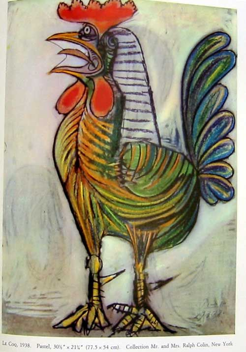 Wall art HD picture painting Rolled The Rooster by Pablo PicassoCanvas
