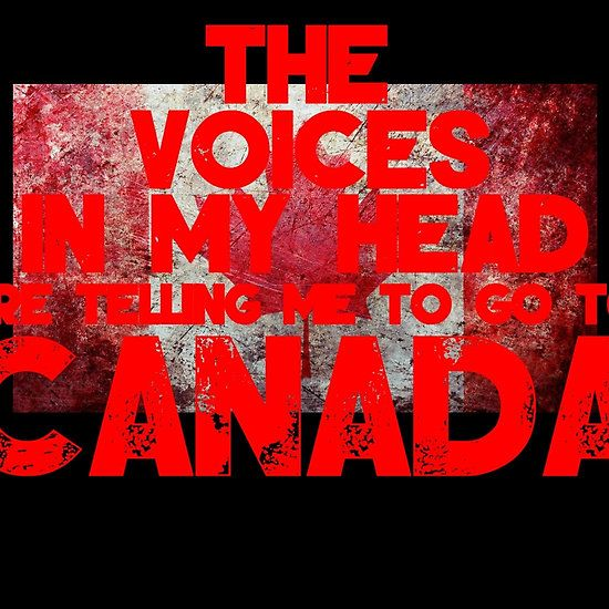 The Voices In My Head Are Telling Me To Go To Canada T Shirt and Hoodie