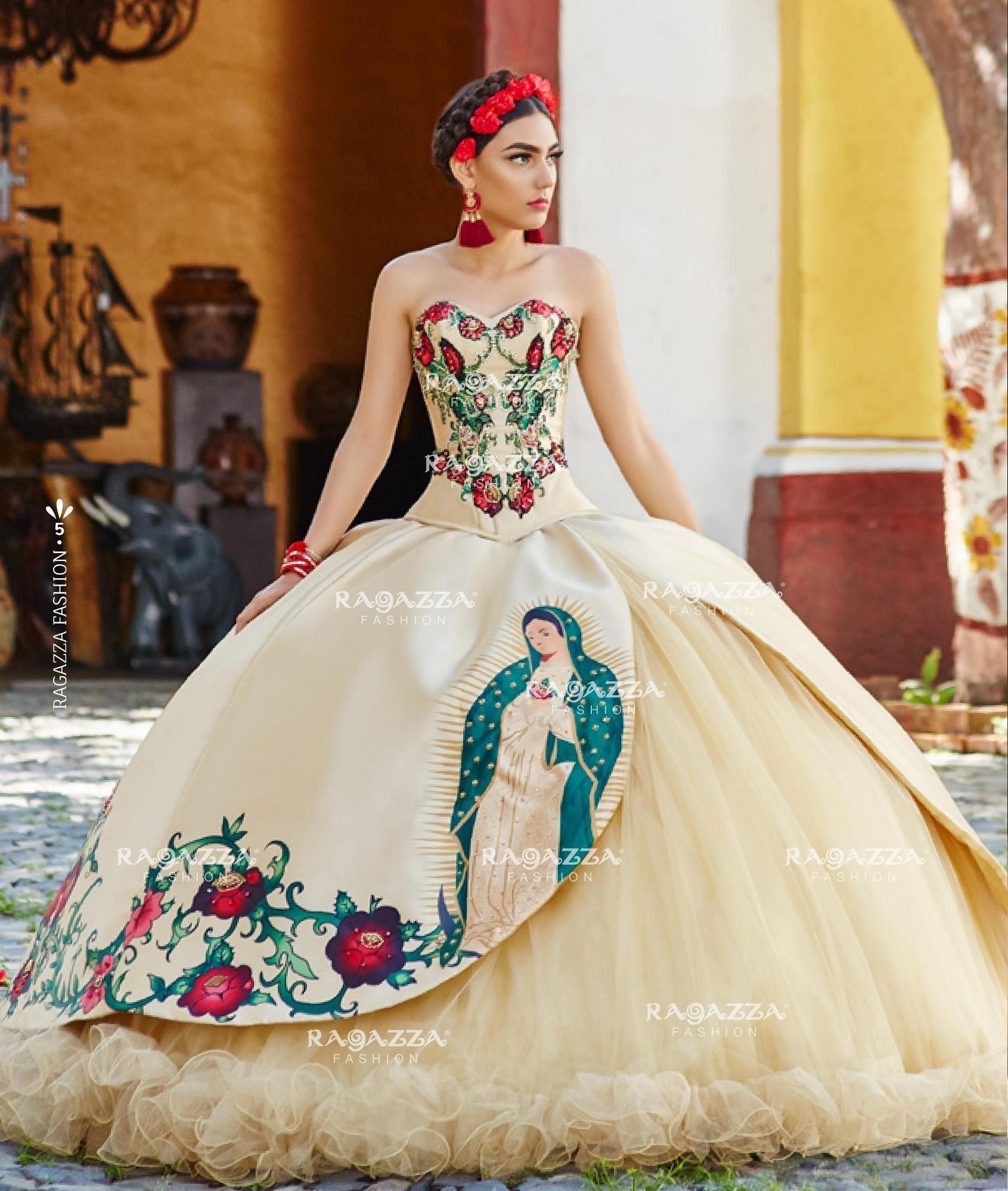 bad52a04169 Virgin de Guadalupe Quinceanera Dress by Ragazza Fashion Style M11 ...