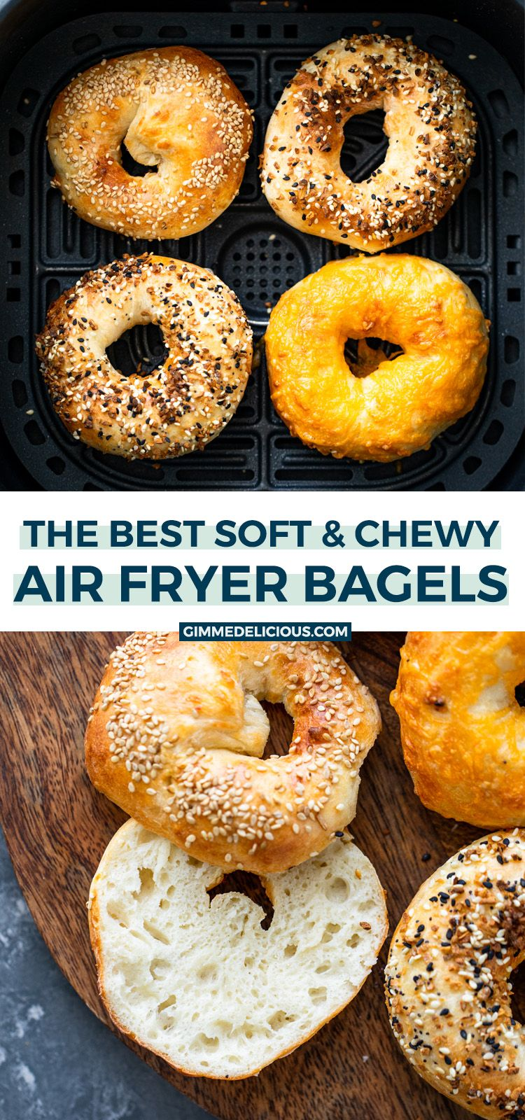 These 15 Minute Air Fryer Bagels are insanely delicious