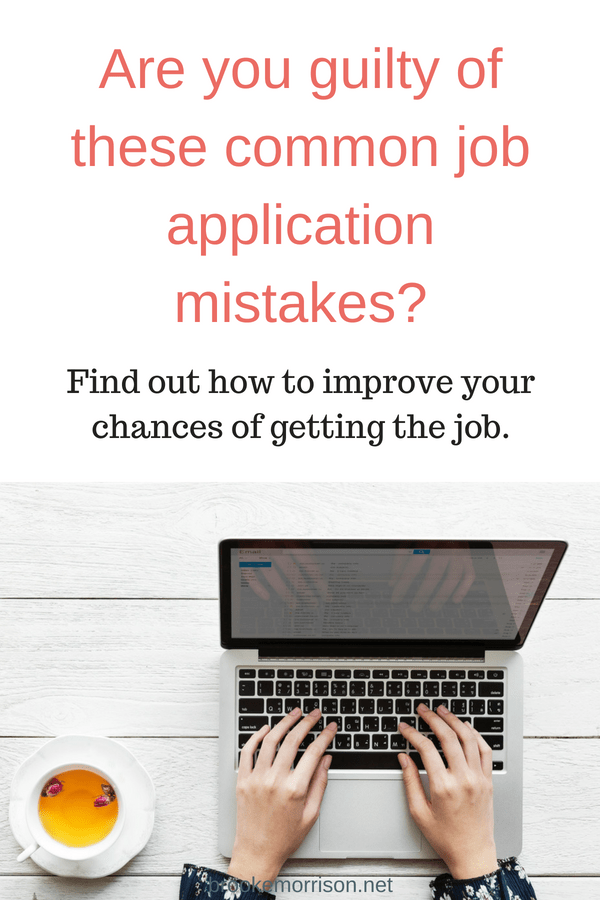 How To Deal With The Most Common Job Application Mistakes Best Of