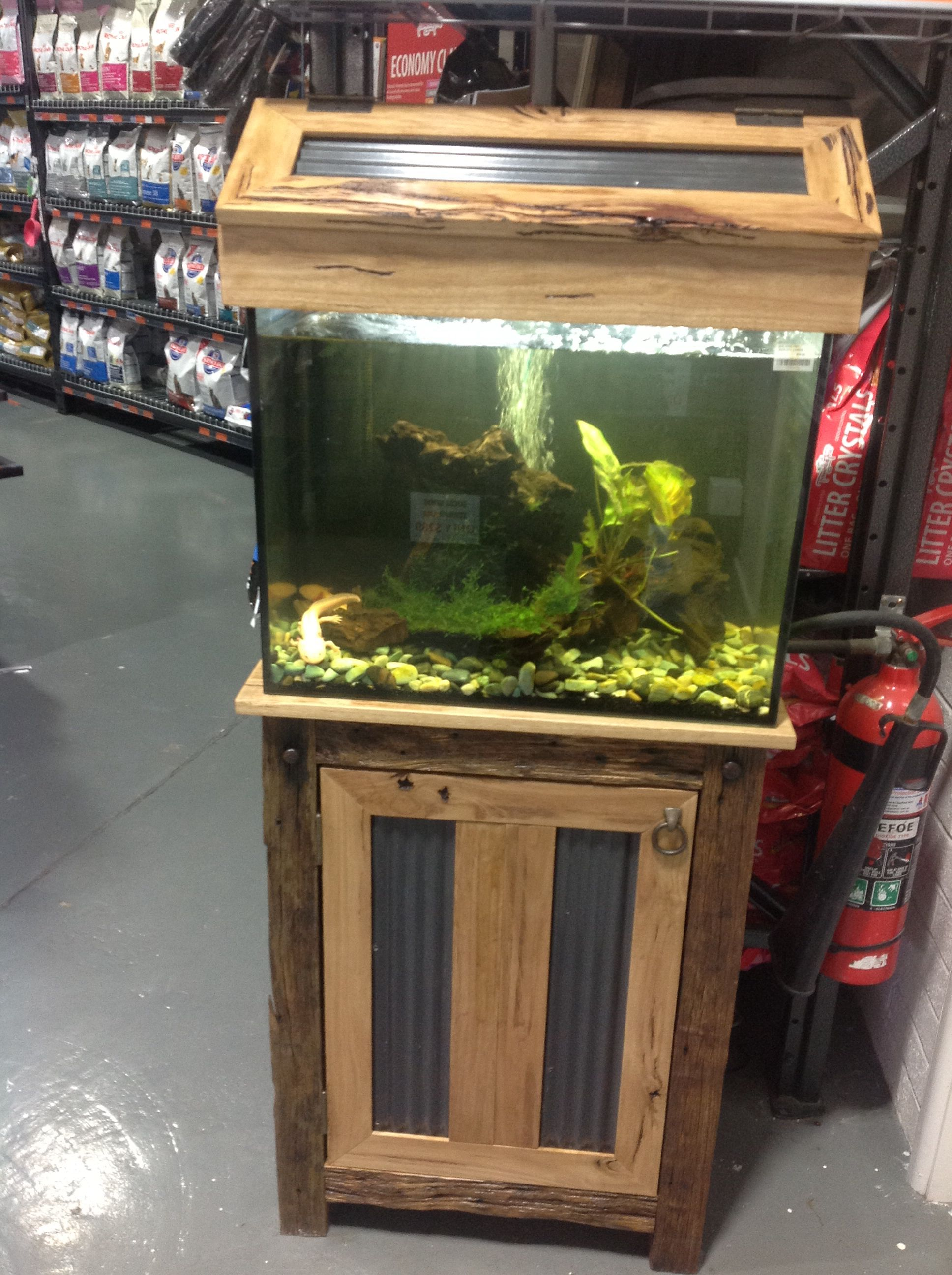Rustic Recycled Timber Fish Tank Stand Made By Rhind House Of Timber Follow Us On Facebook Fish Tank Stand Diy Fish Tank Tank Stand