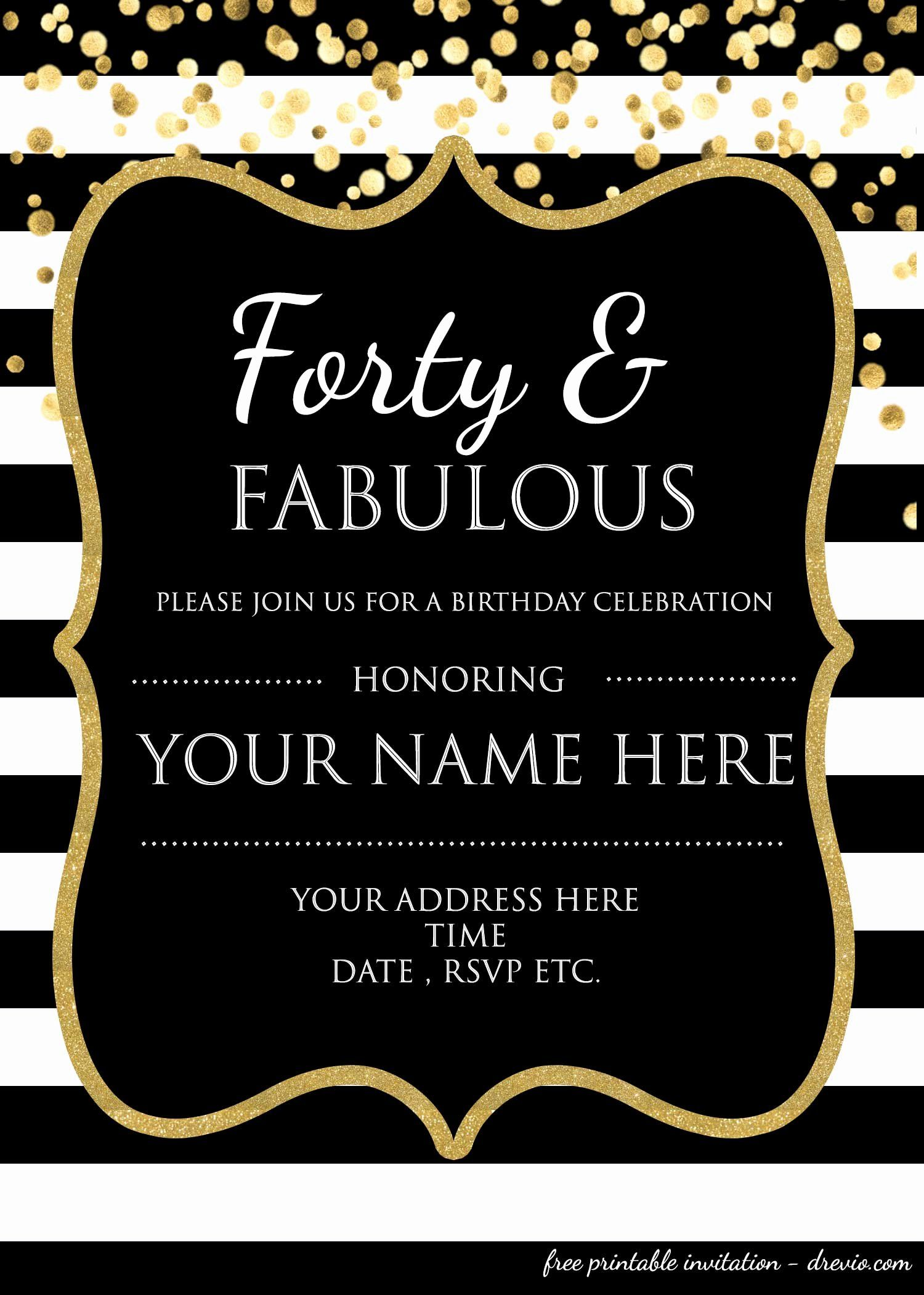 Free Free Printable 50th Birthday Invitations 50th Birthday Invitations 40th Birthday Party Invites 50th Anniversary Invitations
