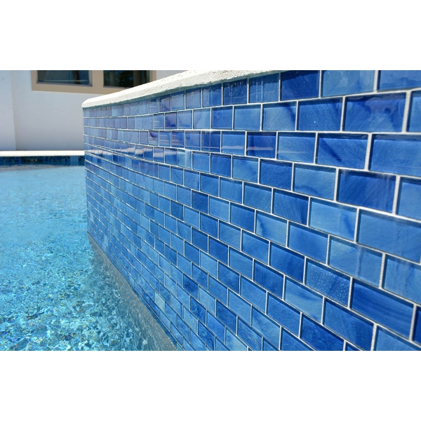 glass pool tile by artistry in mosaics