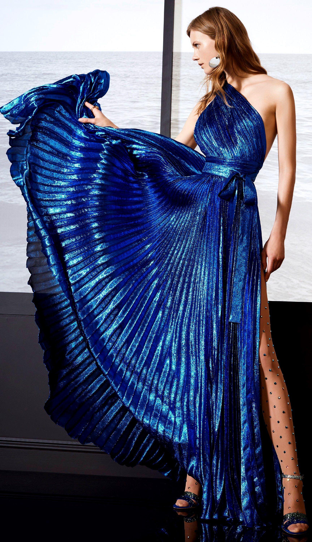 Elie saab resort eliesaab blue couture fashion resort