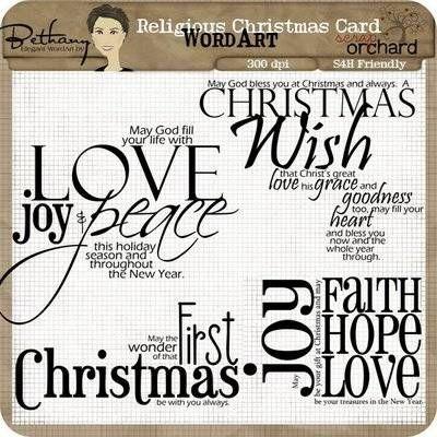 Religious Christmas Card Sayings