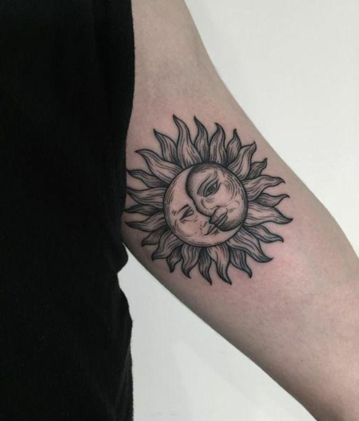 1001 Versions Fantastiques Du Tatouage Lune Et Soleil Tatz