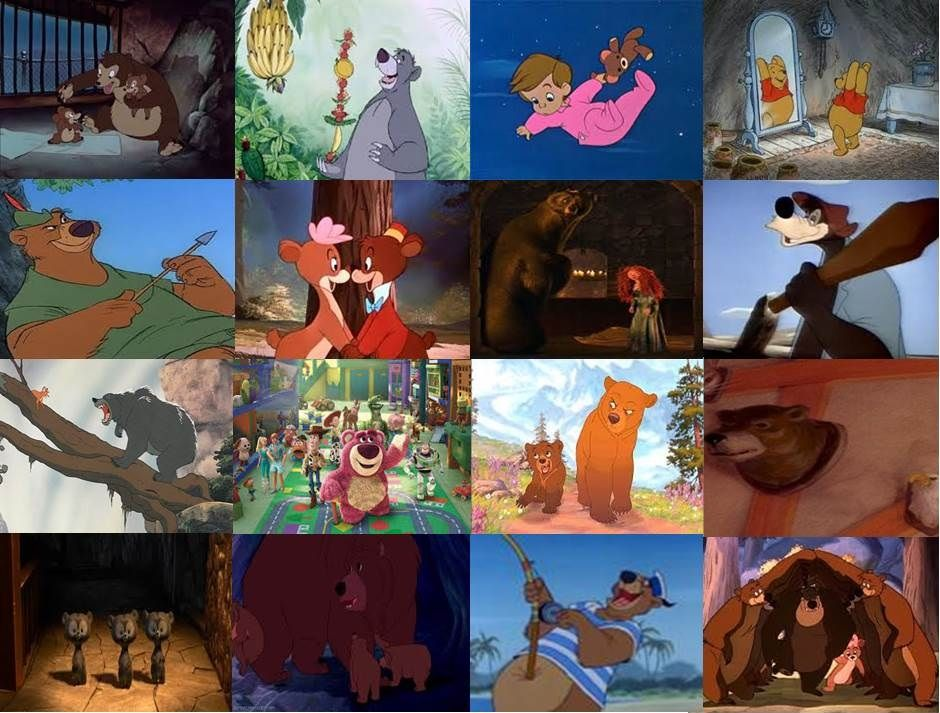 Disney Bears in Movies Part 1 by dramamasks22 on