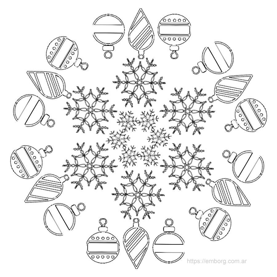Imágenes de mandalas navideños para imprimir y pintar Disfruta de ...