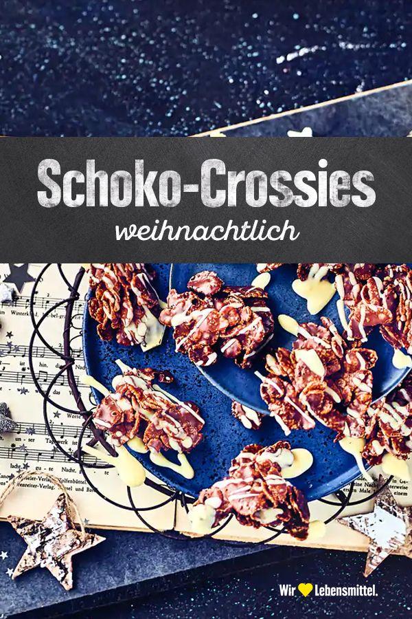 Weihnachtliche Schoko-Crossies #schokocrossiesrezept