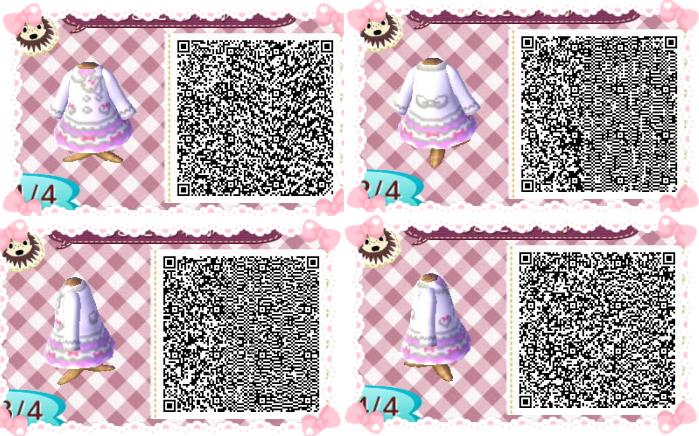Animal Crossing New Leaf QR Code Paths Pattern Bunnies /(^ x .