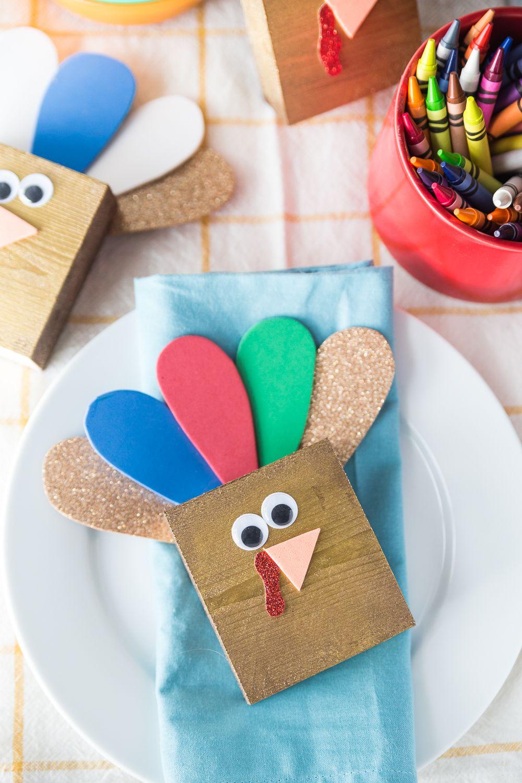 Wooden Turkey Craft (With images) Wooden turkey, Turkey