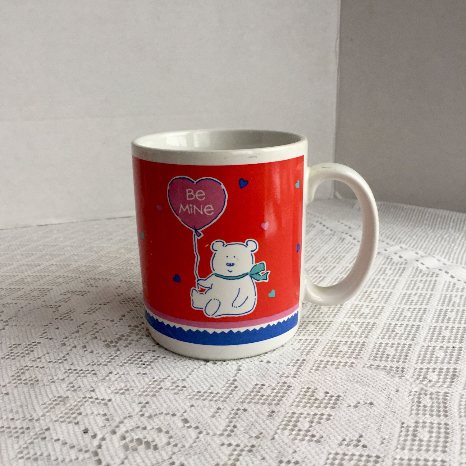 Sterling Day Made Vintage Red Teddy Bear Coffee Cup Korea Red Korea Coffee Cups Day Made Bear On Bottom Bear Hing A Coffee Cup Die Vintage Red Teddy Bear Coffee Cup