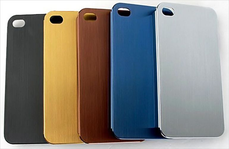 hard Back case cover for Apple iphone 5 /5s Aluminum Clear Skin Gold Silver Blue #UnbrandedGeneric