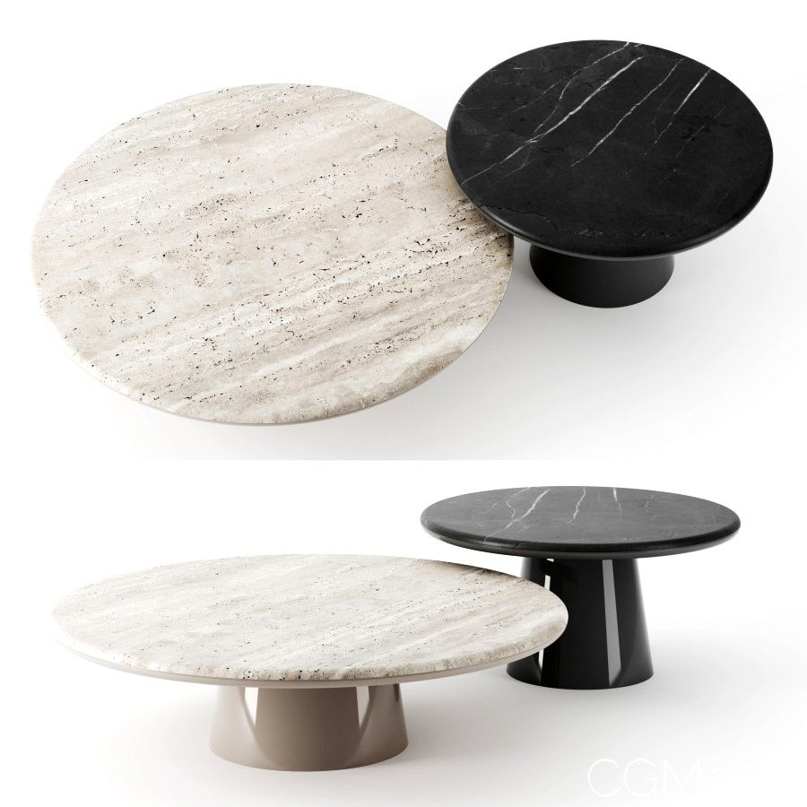 Leon Tables By Meridiani 3d Model For Corona In 2021 Table Coffe Table Side Table Design [ 900 x 900 Pixel ]
