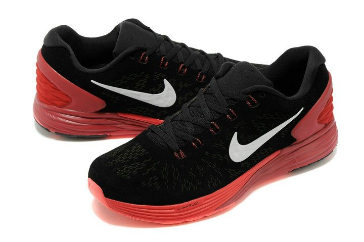Mens Nike LunarGlide 6 EXT Suede Black White Bright Crimson