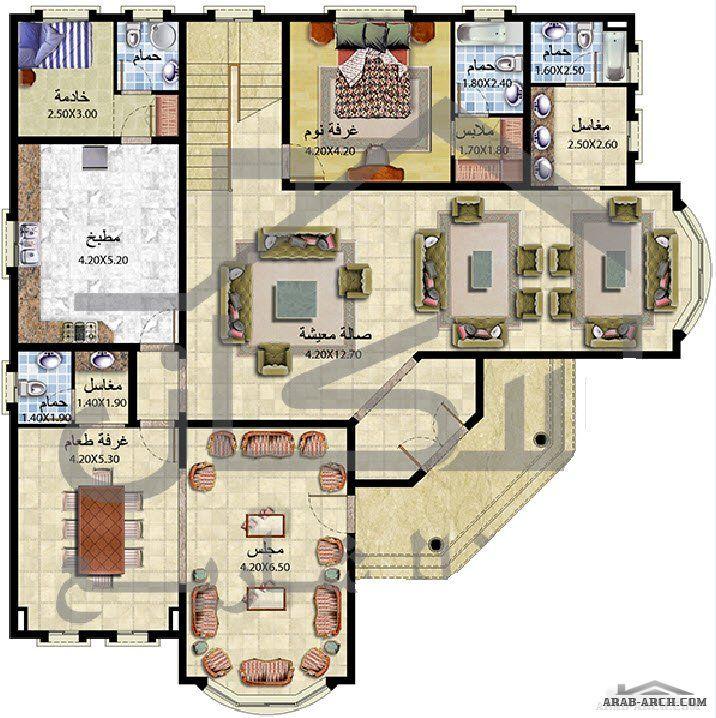 فيلا طابقين 6 غرف نوم ماستر من اسكان لادراة المشاريع Square House Plans My House Plans Beautiful House Plans