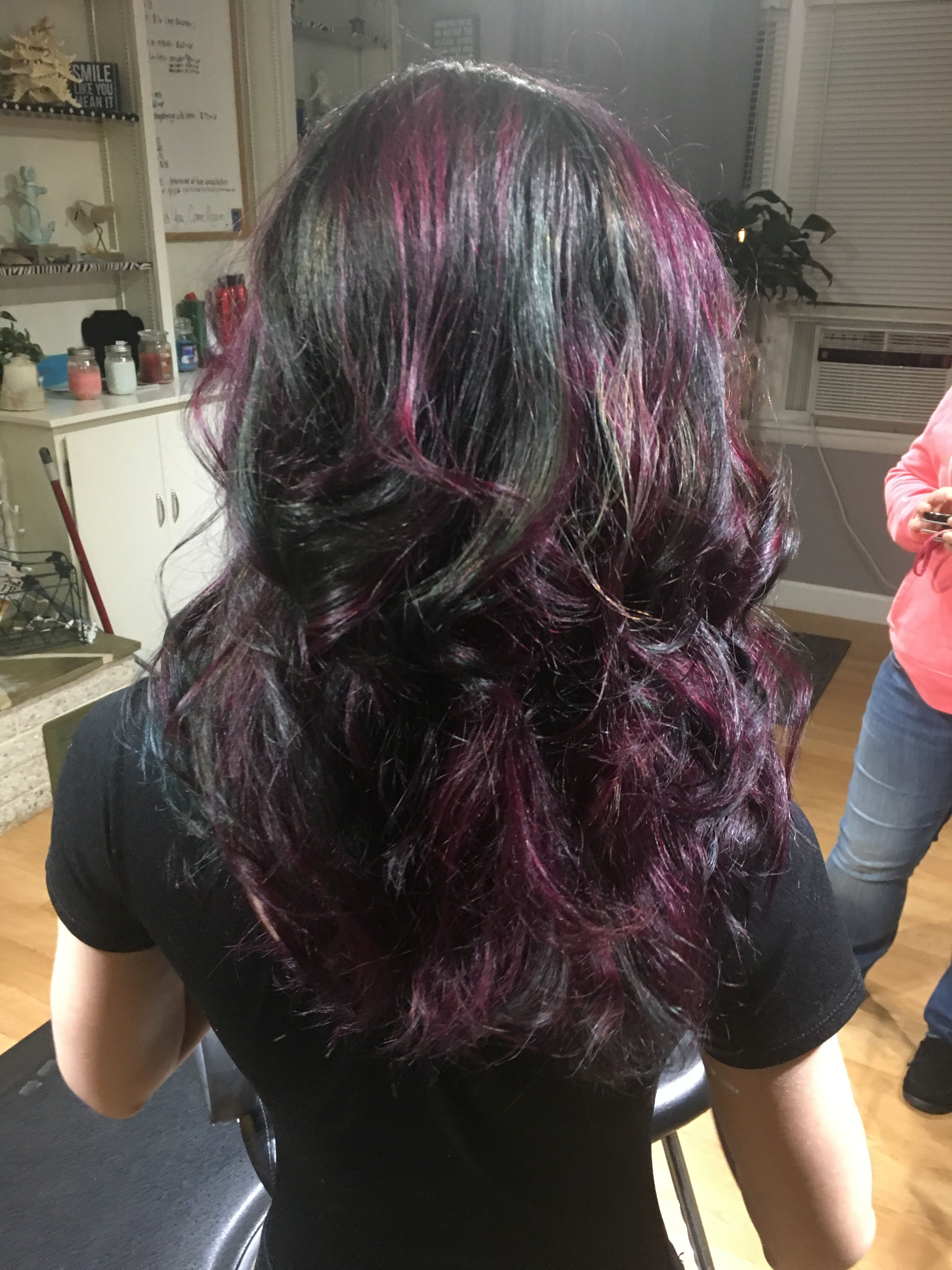 Purple Highlights On Dark Brown Hair Find Your Perfect Hair Style