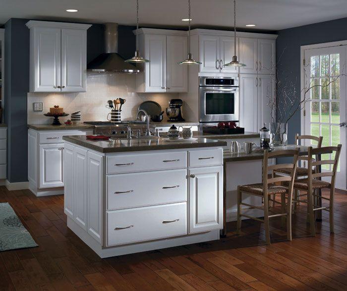 Homecrest Thermofoil Harbor Court White Finish Kitchens