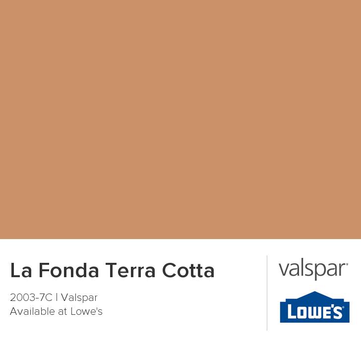 La Fonda Terra Cotta From Valspar Paint Color Chart Charts Colors