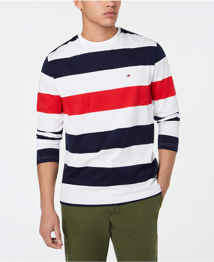 Tommy Hilfiger Men/'s Stripe T-Shirt White