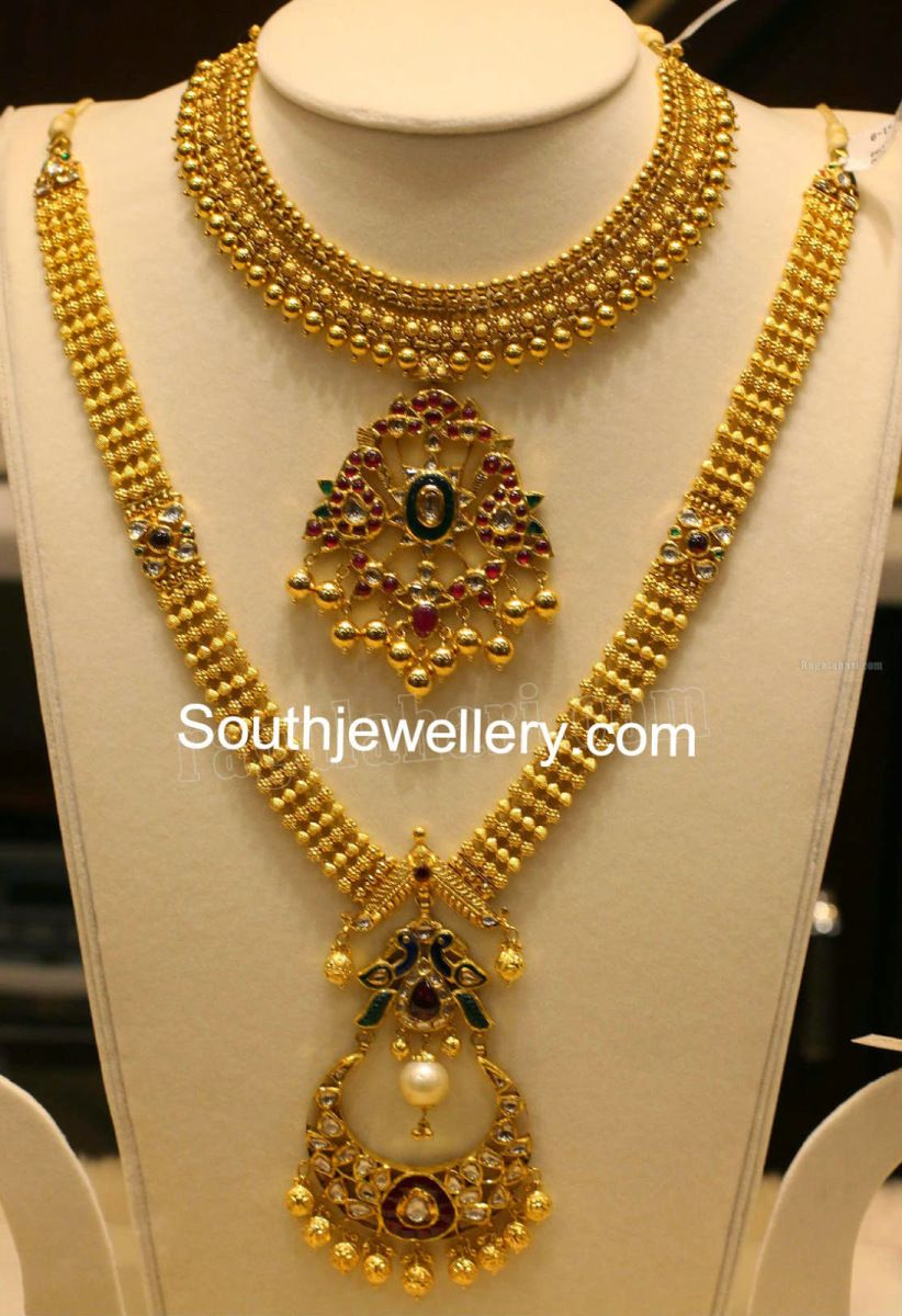 Antique Necklace And Haram Set Jewelry Pinterest