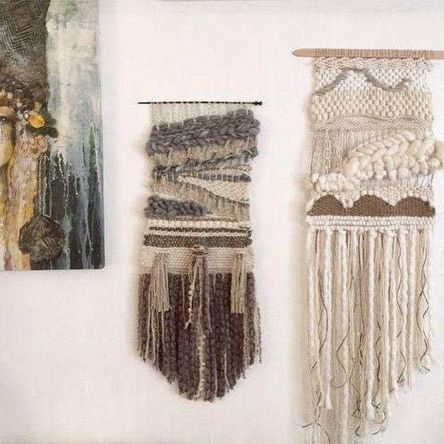 Beautiful weaving a by @lula.mae using cloud yarn.