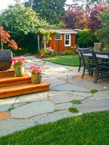 Garden Design Victoria Bc bluestone flagstone   landscape contracting, garden design