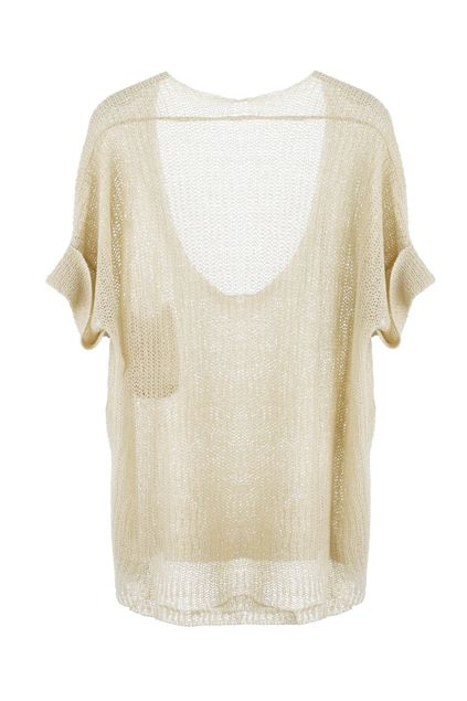 Fold-over Cuffs Knitted Jumper.