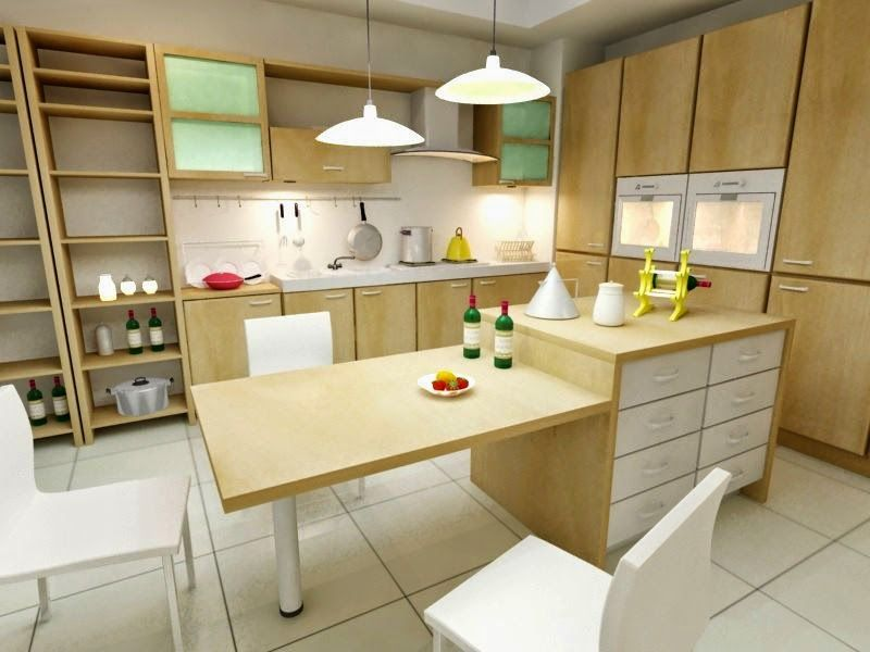 muebles de madera cocinas modernas y funcionales