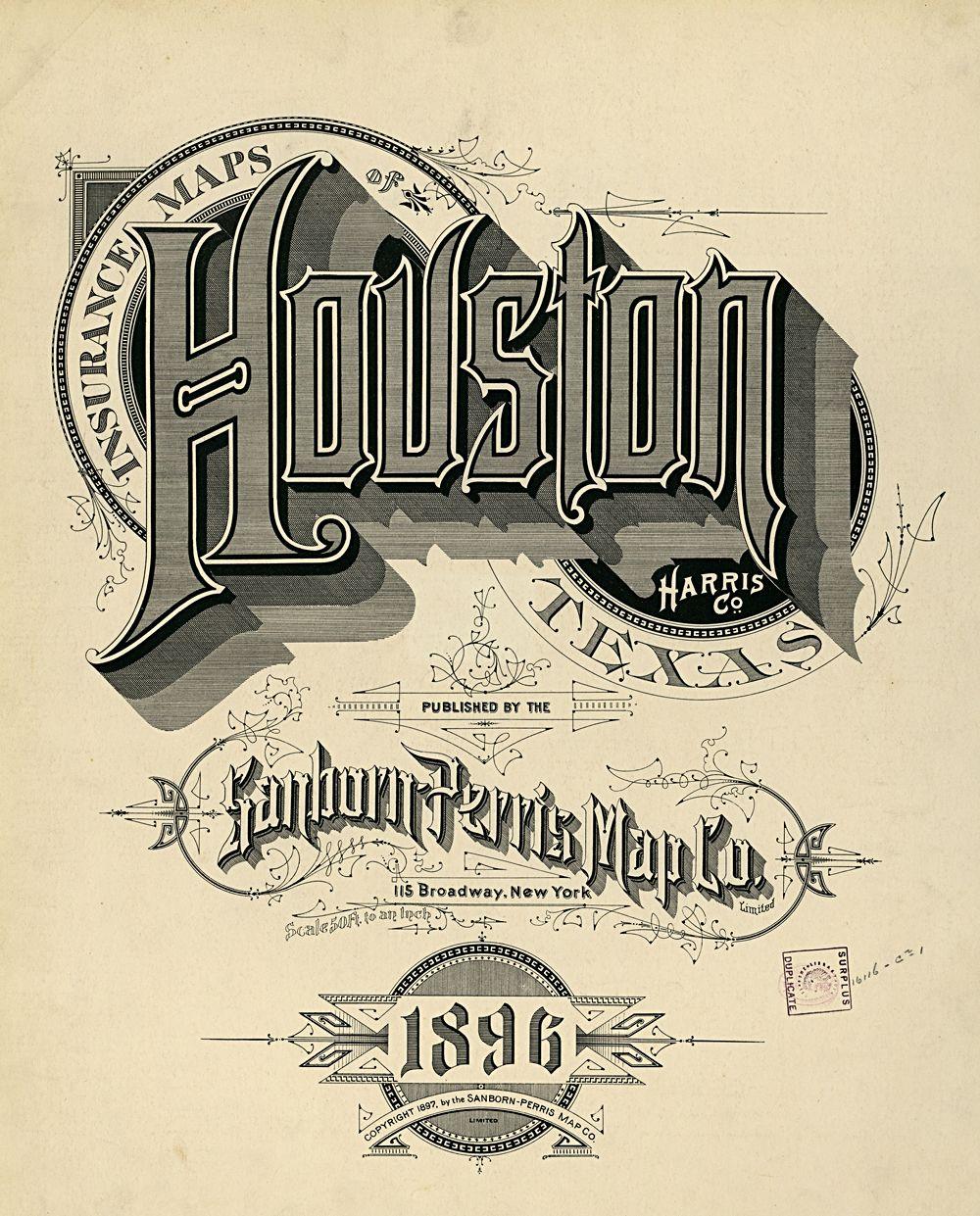 Houston Vintage Typography Lettering Blog Lettering