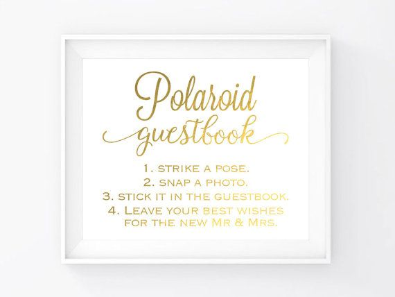 Instant Download Gold Foil Guestbook Sign by VintageBellsAndCo - guest book template