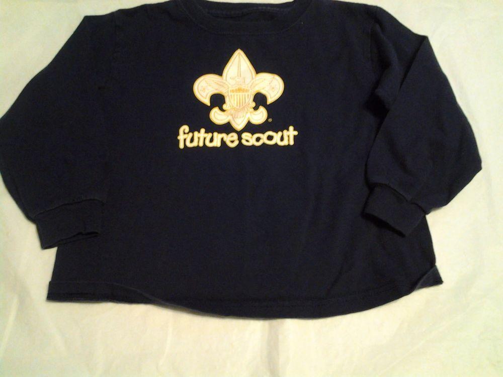 """Boy SCOUTS  """"Future"""" Long Sleeve T Shirt SZ 4  #BoyScoutsofAmerica #Shirt"""