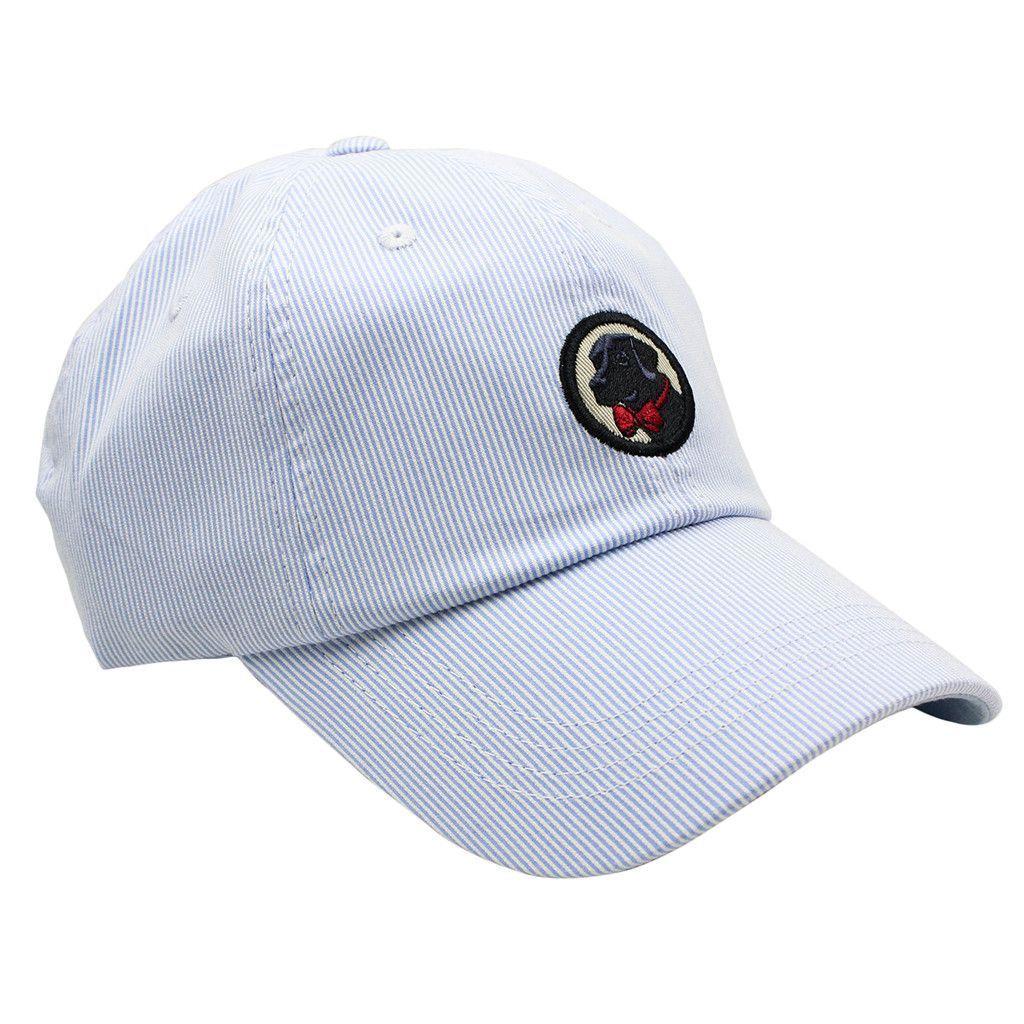 Frat Hat in Small Stripe Hydrangea Blue by Southern Proper