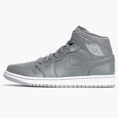 0ded1d569abffd Nike Air Jordan 1 Mid Mens 554724-031 Cool Wolf Grey Basketball Shoes Size  11.5
