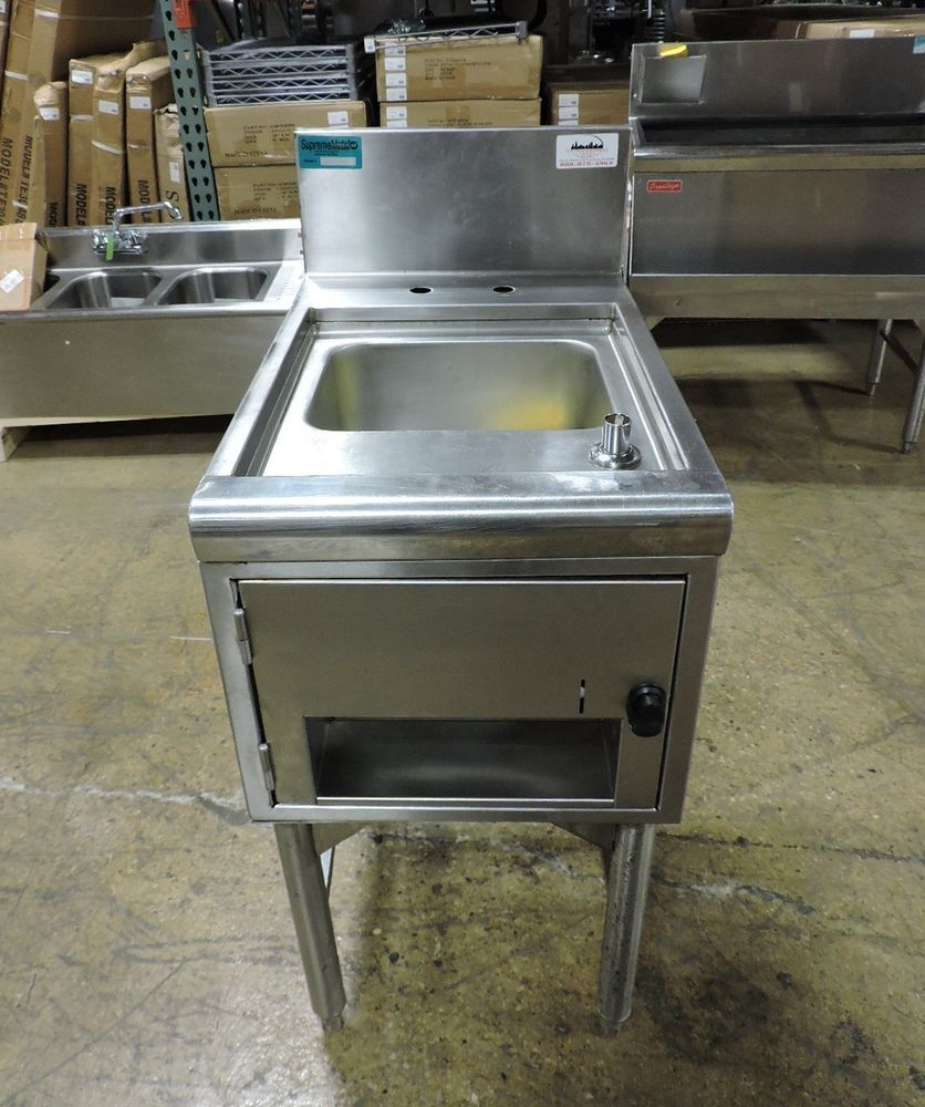 Details about  /Supreme Metal Commercial Underbar Hand Sink with Soap and Towel Dispensers