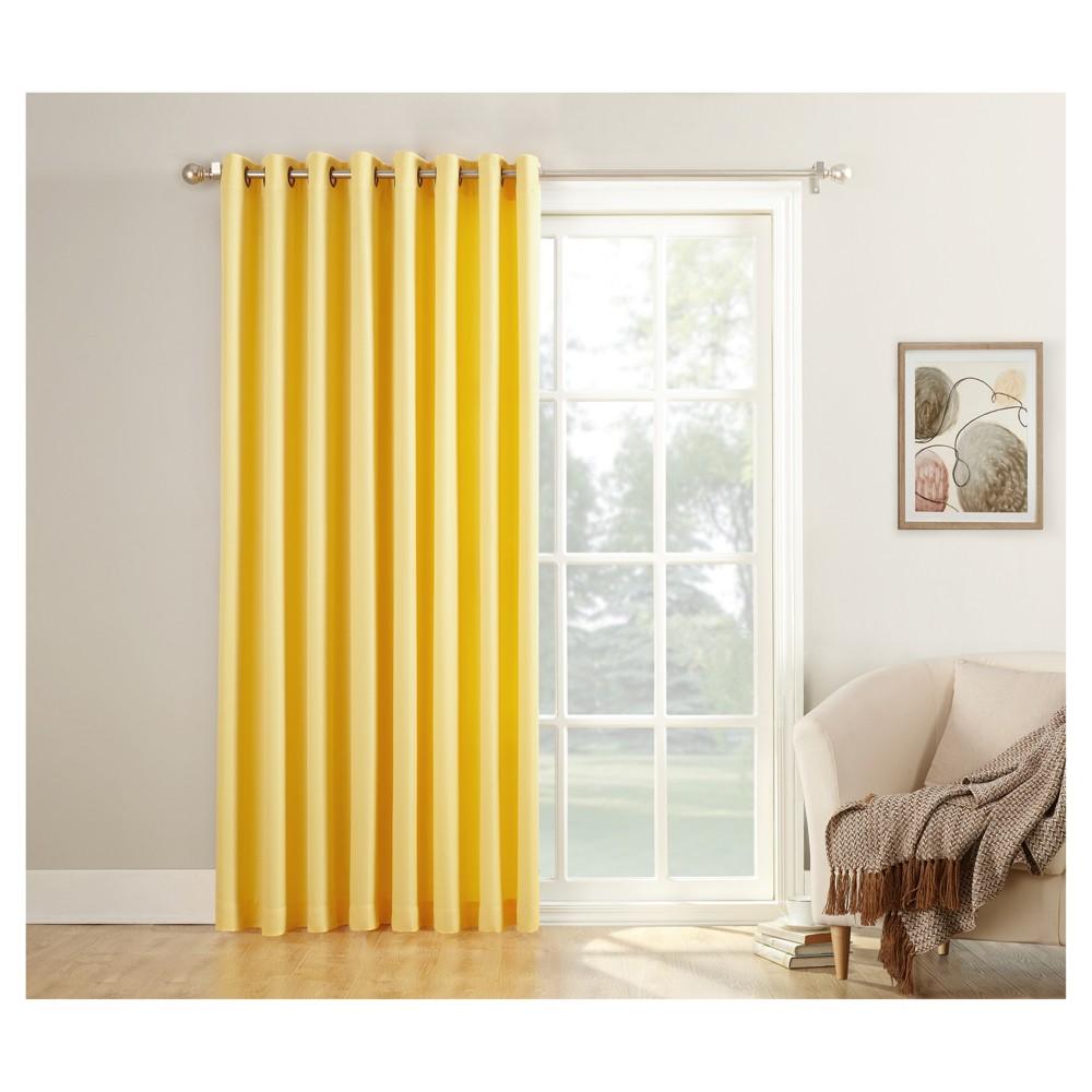 918 Montego Patio Extra Wide Casual Textured Grommet Patio Door Curtain  Panel
