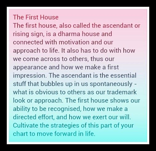 sun in first house in astrology